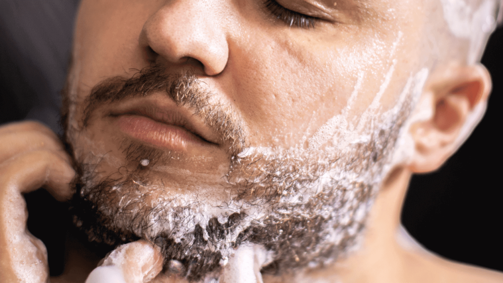cleaning the beard